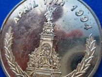 798- Medalie Marathon London 1994 in metal aurit.