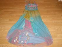 Costum carnaval serbare rochie gala dans curcubeu adulti S