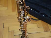 Saxofon sopran Karl Glaser nou,negru+auriu