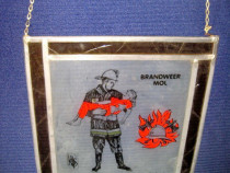 4570-Aplica veche Belgia- Pompierii Salvatori, BRANDWEER MOL