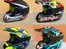 SET Casca+Ochelari+Manusi+Cagula Atv/Cross/Enduro