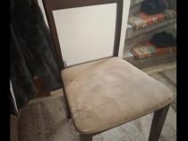 Set 4 scaune bucătărie / sufragerie lemn finisaj nuc