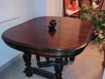 Masa extensibila din lemn masiv vintage