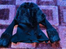 Palton cu blăniță