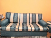 Set canapea, fotoliu si taburet