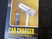 încărcător auto fast Charger iphone 120cm 4.2a