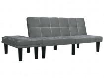Canapea cu 2 locuri, gri, piele ecologică 284760