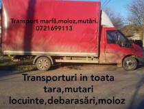 Transport marfa,mobila,moloz,debarasari din locuinte