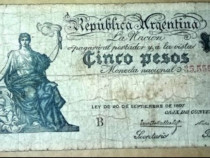 5 pesos 1897