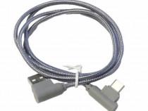 Cablu incarcare transfer date Type C, mufa usb 90 grade, fir