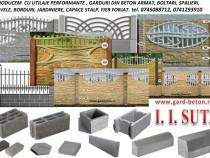 Producem gard placi beton boltari pavaje fier forjat
