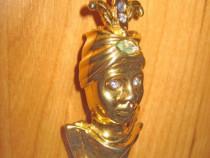 4559-Brosa Vintage Rajah India metal aurit.