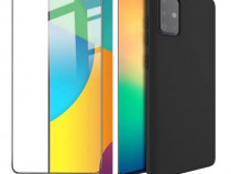 Pachet Husa Silicon si Folie Sticla 11D - Samsung A51 A71