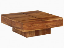 Măsuță de cafea, lemn masiv de sheesham, 246250
