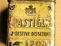 B280-I-Cutie Farmacie medicamente veche metal Pastiglie Leon