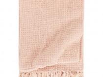 Pătură decorativă, roz învechit, 220 x 250 cm, 133766
