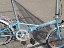 "Bicicleta 20""pliabila on the road"