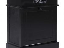 Pantofar, negru, 50 x 28 x 58 cm, lemn de 284086