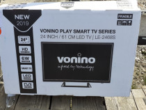 Tv led smart full hd vonino 24inch 61cm le2468s nou la cutie
