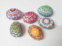 Oua decorative de Pasti , handmade pentru Paste, din margele