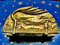 B440I-Stativ servetele marcat Stomin bronz aurit stil Art N.