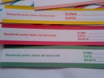 Lot de 50 banderole, fâșii de hârtie de teancuri de bancnote