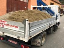 Transport basculabil nisip sort piatra beton pamant