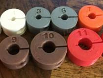 Set limitatoare adancime de gaurire din plastic 3 - 12 mm