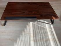Masa pentru laptop maro,inaltime ajustabila