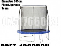 Trambulina Copii Relaxare Rotunda 305cm 150KG Plasa + Scara