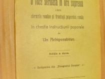B663-O voce in ora suprema carte veche Romania Sibiu 1913.