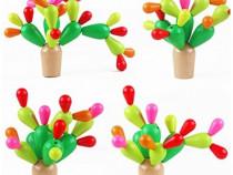 Cactus lemn Montessori