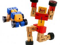 Robot din lemn Transformers-diverse culori