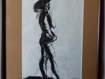 Nud de barbat (1) - tus semnat