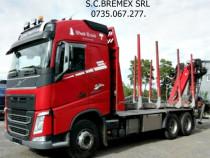 Camion forestier 6x4 Volvo-500 arcuri fier+leasing de la 0 %