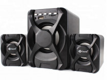 Set Boxe Kisonli Bluetooth-TFCard-USB-FM-AUX+Telecomanda NOI
