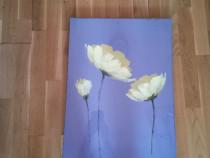 Tablou sigilat pictat pe panza Flori galbene
