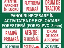 Facem Panouri necesare in activitatea exploatare forestiera