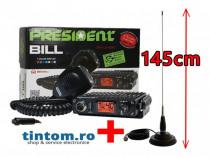 Statie Radio CB President BILL 4W Antena Statie Radio ML145