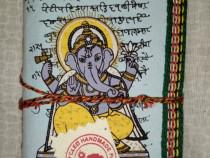 Agendă cu zeul Ganesha din hârtie reciclata