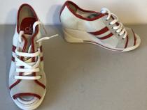 Pantofi sport cu platforma, model peep toe, Calvin Klein, or