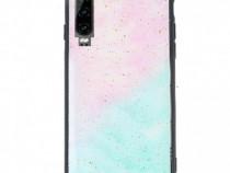 Husa telefon plastic huawei p30 marble glitter produs nou