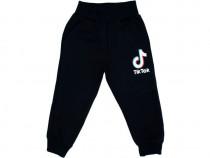 Pantaloni de trening TIK TOK baieti | Pantaloni negrii sport