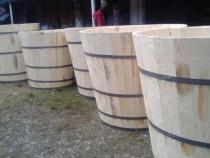 Cadă vin din lemn de Brad sau Stejar pentru zdrobit struguri