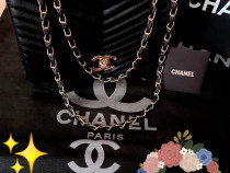 Geanta Chanel new model,logo metalic auriu,saculet inclus