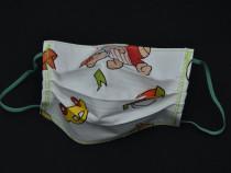 Mască reutilizabilă pentru copii ,bumbac/2 straturi, comanda