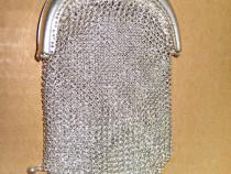 B827-Posetuta argint veche dubla interior marcaj 800.