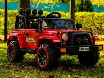 Masinuta electrica Jeep BRD-7588 90W 12V cu Scaun Tapitat