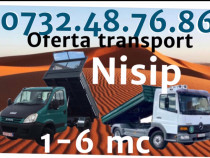Transport nisip balastru Pamant moloz Bucuresti Ilfov