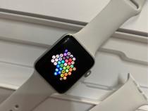 Apple Watch 3, 42mm, Silver Aluminium, White sport band